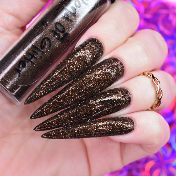 Jordan Dark Copper Nail Glitter