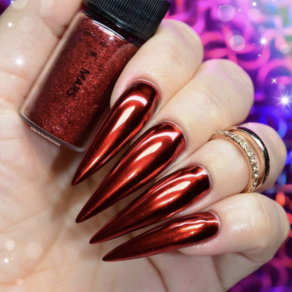 Mars Red Nail Chrome