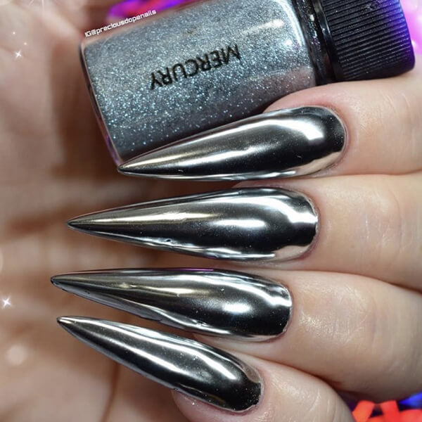 Mercury Silver Nail Chrome