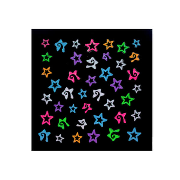 Neon Stars Sticker Sheet