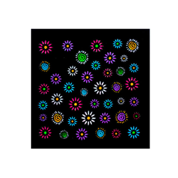 Neon Flowers Sticker Sheet