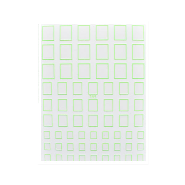 Neon Green Shape Stickers