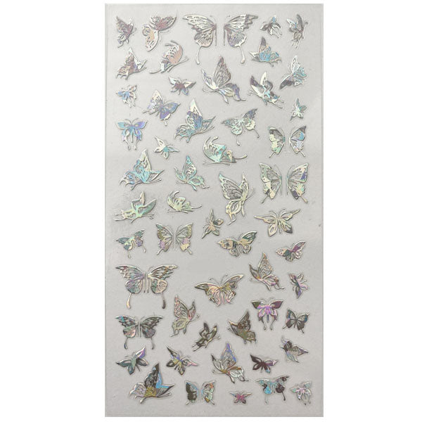 Silver Butterfly Nail Stickers 13