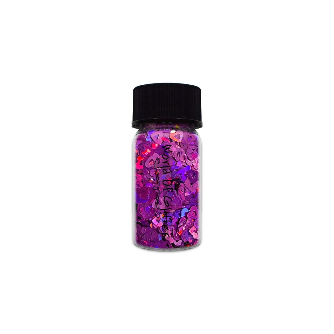 Virginia Purple Holographic Hearts