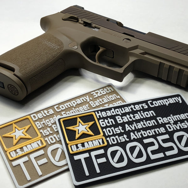 P320 - M17 Collector's Case Deployment Information / Name Plate