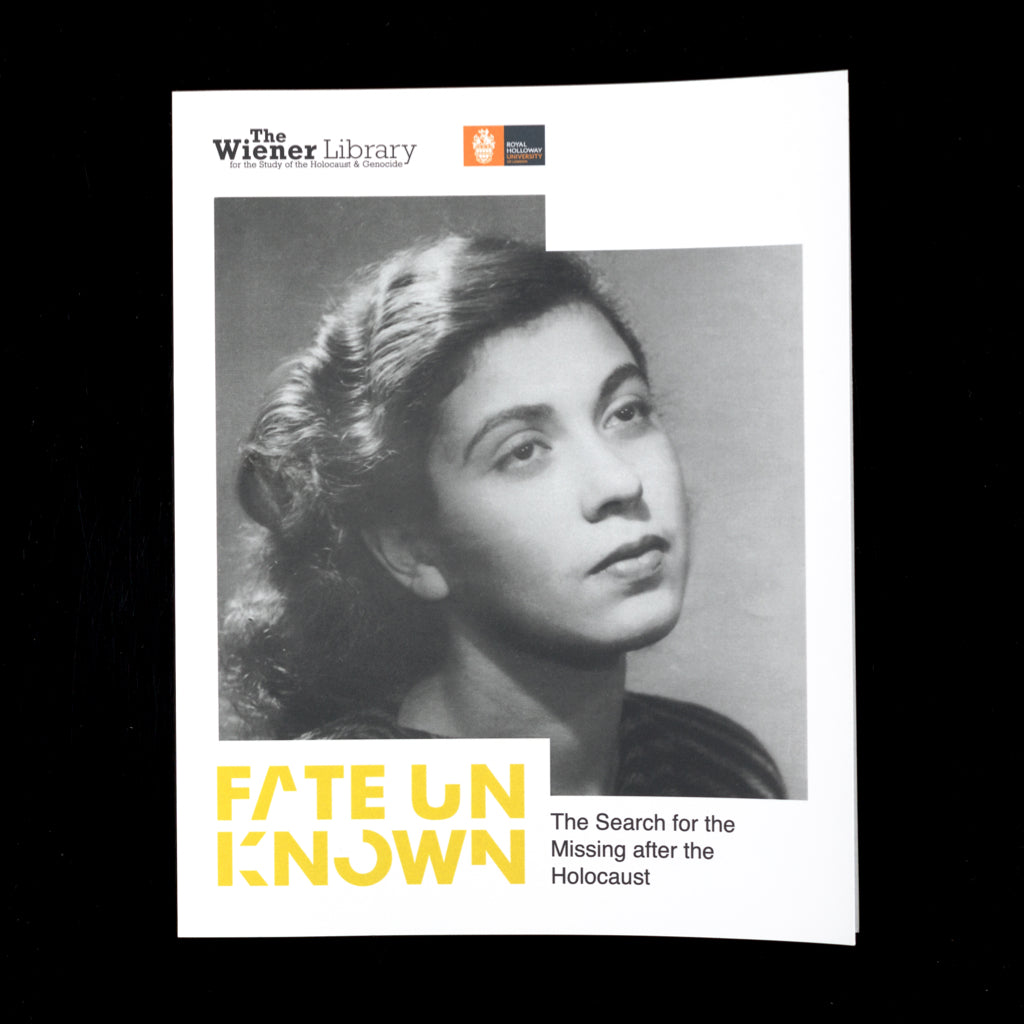 Fate Unknown: The Search for the Missing After the Holocaust