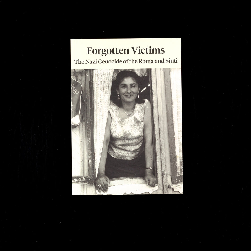 Cover of exhibition catalogue 'Forgotten Victims: The Nazi Genocide of the Roma and Sinti'