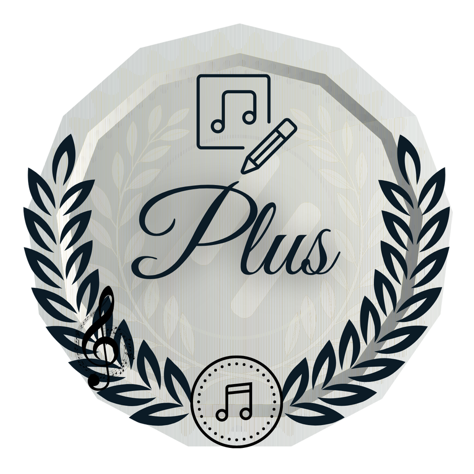 Logo for Plus song contest entry option. Numerical scoring plus extensive written feedback.
