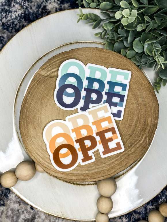OPE // sticker pack