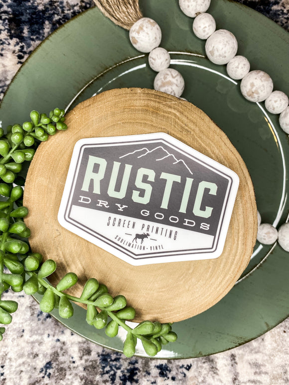 Rustic Logo Sticker