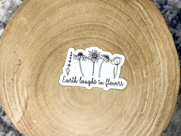 Earth laughs in flowers // sticker