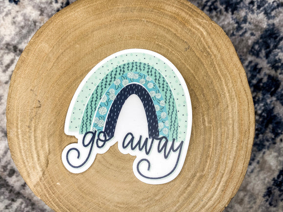 Go away // sticker