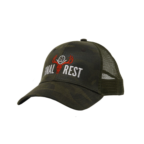 Final Rest Camo Snapback Hat