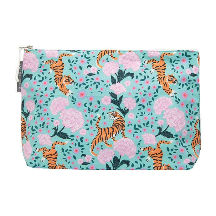 Annabel Trends Cosmetic Bag Large Tigers & Peonies