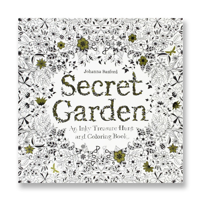 Secret Garden An Inky Treasure Hunt and Coloring Book, Gold Foil Edition
