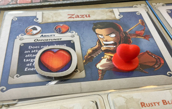 Arcadia Quest Wound (Heart) Tokens (pkg of 48)