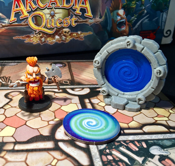 Arcadia Quest Portals (with optional blue and red token)