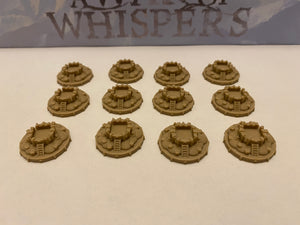 City Tokens for A War of Whispers (set of 12)
