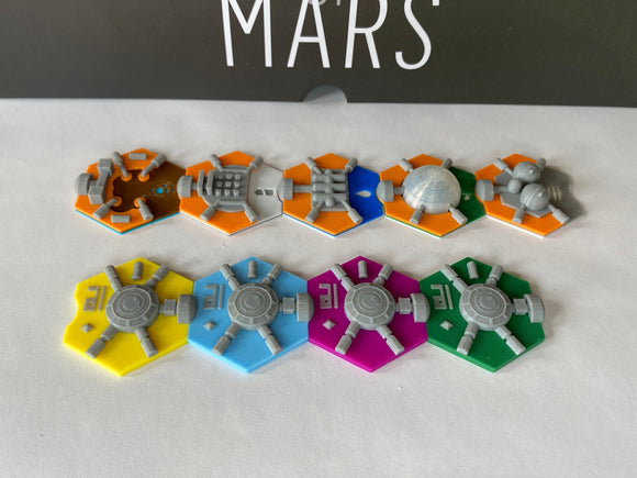 On Mars Building Tiles (set of 55)