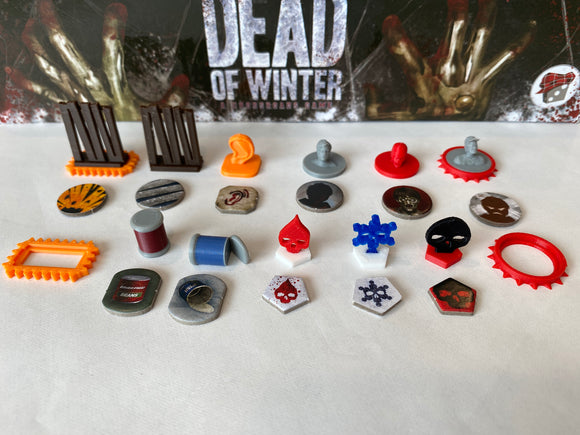 Dead of Winter Economy Token Set (Optional The Long Night Tokens)