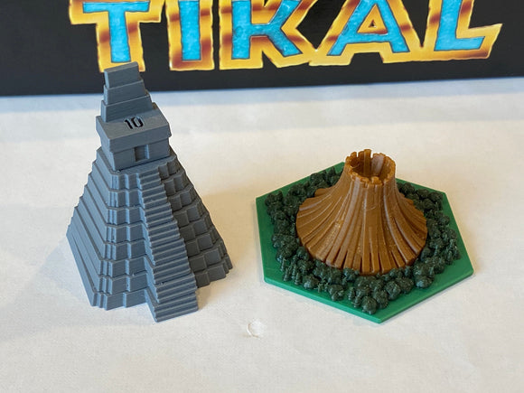 Tikal Temples and Volcanoes (51 tokens)