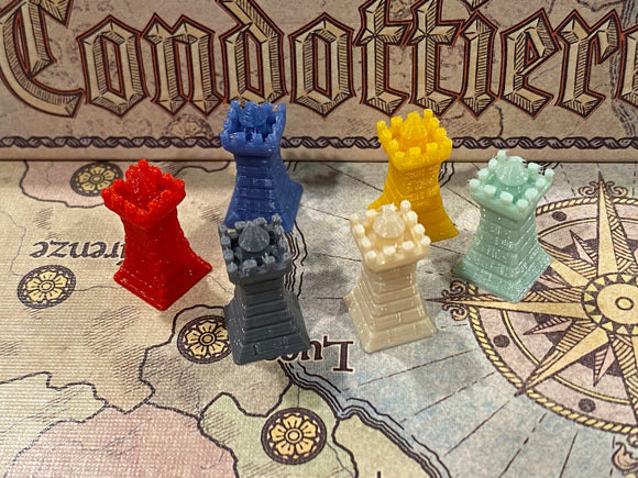 Towers for Condottiere Player Tokens (set of 30)