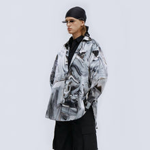 Load image into Gallery viewer, angel chen grey marble print long sleeve shirt