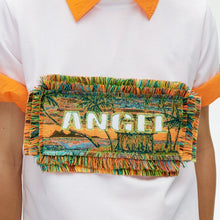 Load image into Gallery viewer, angel chen jacquard patch t-shirt white