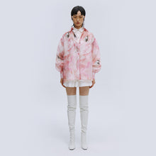 Load image into Gallery viewer, angel chen pink print ballon sleeves shirt with mini skirt outfit
