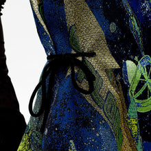Load image into Gallery viewer, angel chen universe jacquard asymmetrical A-line dress  drawstring details on the waist