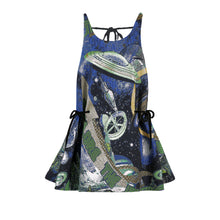 Load image into Gallery viewer, angel chen universe jacquard asymmetrical A-line dress