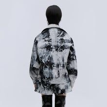 Load image into Gallery viewer, angel chen black tie die denim jacket with matching shorts outfit