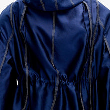 Load image into Gallery viewer, angel chen asymmetrical wrap hooded jacket detail