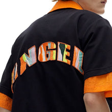 Load image into Gallery viewer, angel chen black t-shirt with embroidery details on the back