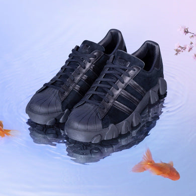 adidas x angel chen SUPERSTAR80S black sneakers editorial