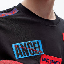 Load image into Gallery viewer, angel chen badges regular fit t-shirt detail