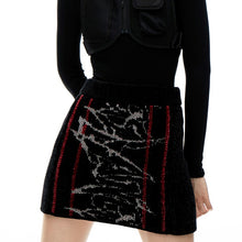 Load image into Gallery viewer, angel chen jacquard knit mini skirt