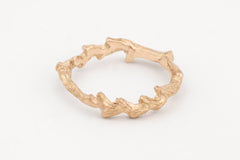 yellow gold seaweed ring by Antonia Field