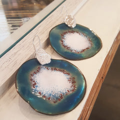 Ada Hodgson Enamelled earrings