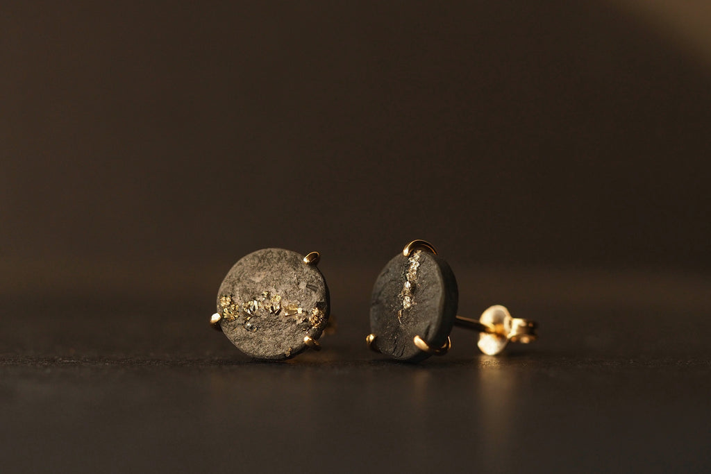 Gold Pyrite Satellite Studs