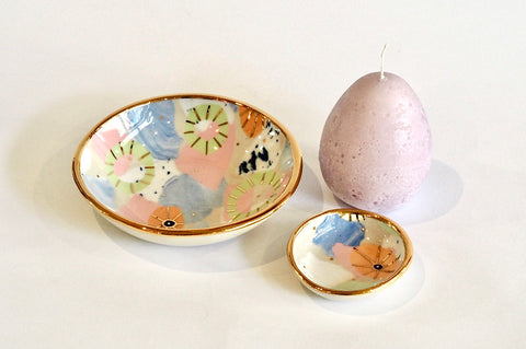 Lilac Ceramics and Candle Set