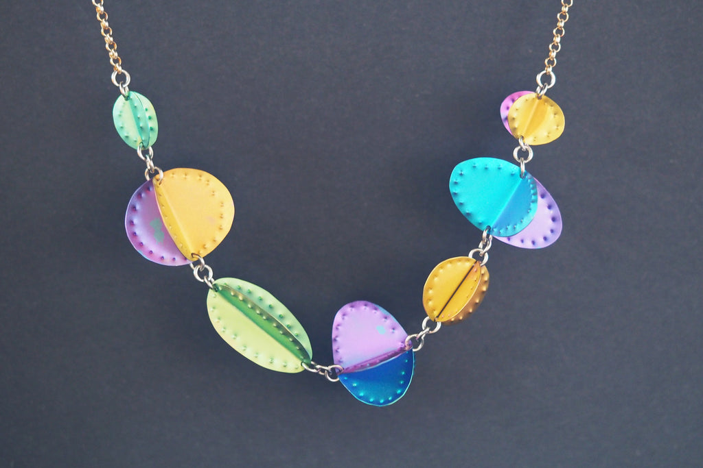 Bright Titanium Shapes Necklace