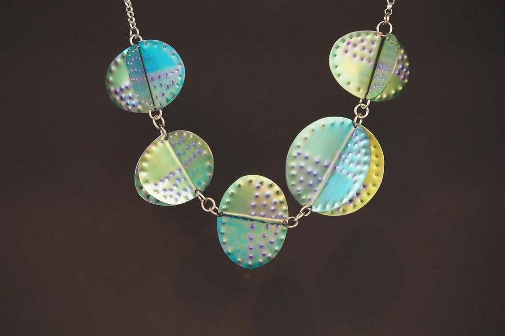 Lush Titanium Shapes Necklace