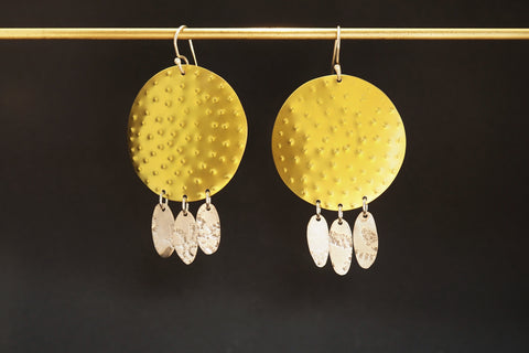 Circle Dot Earring