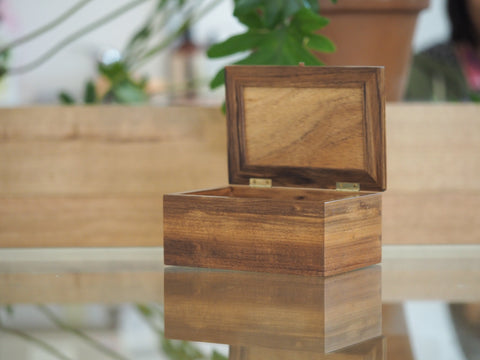 Tasmanian Blackwood Small Timber Jewellery Box