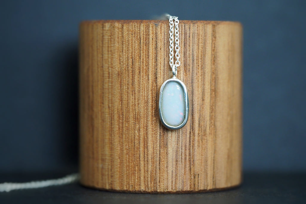 Silver Opal Necklace #1