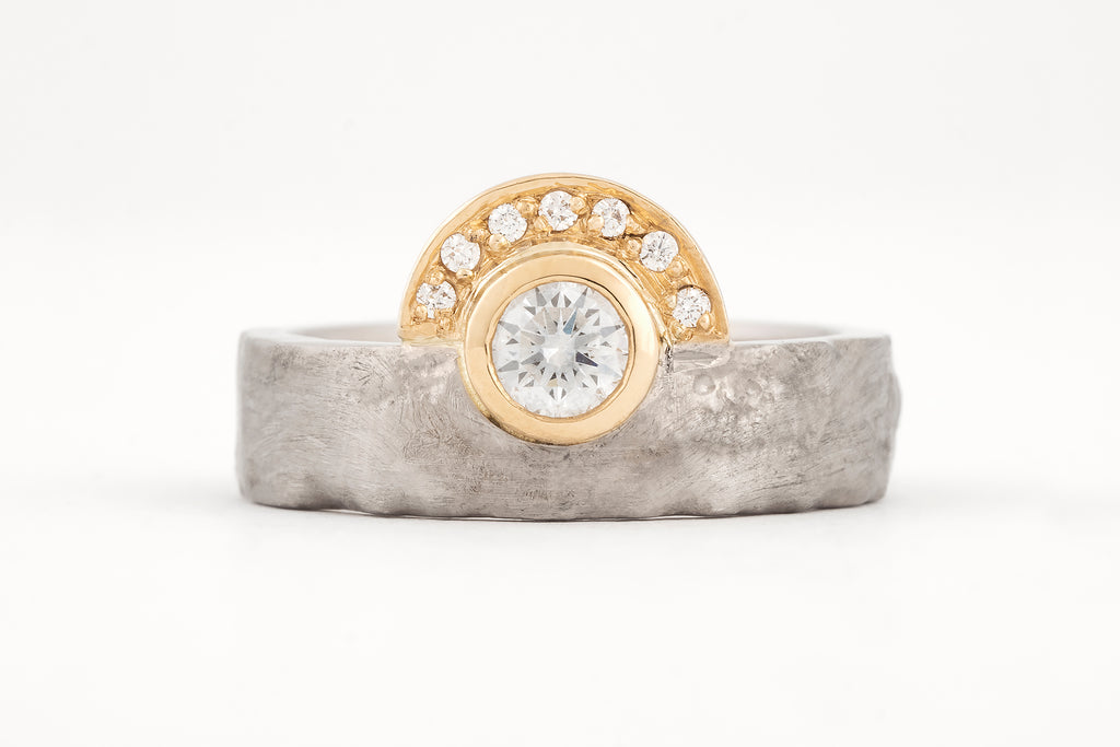 Dawn Disarmed Diamond Halo Ring