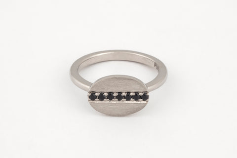 Black All In A Row Ring