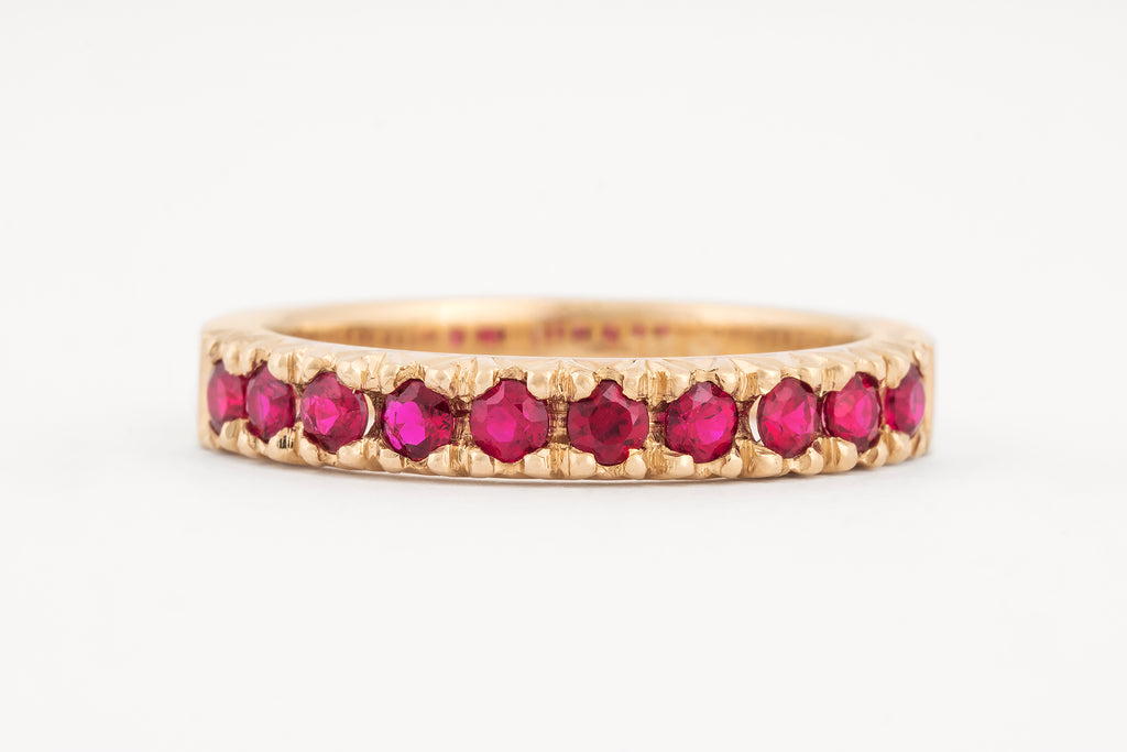Ruby Fishtail Set Ring