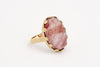 Cherry Flame Quartz Ring